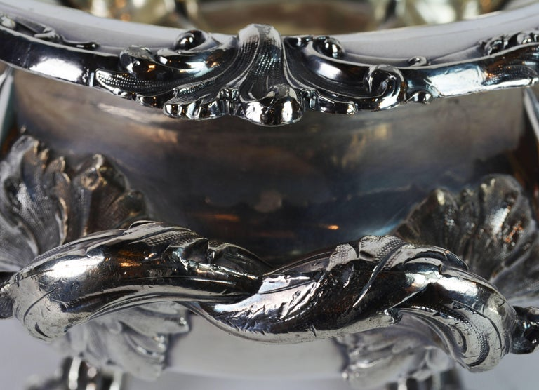 Late 19th Century Large Silver Plate Rococo Style Turreen by James Dixon & Sons For Sale 8