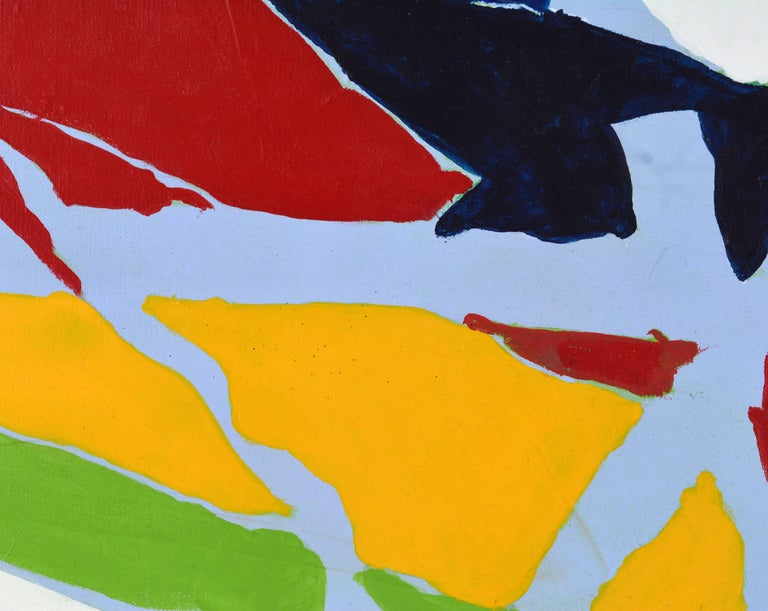 Danish Poetic Abstract Color Composition, Original Painting by Anders Hegelund For Sale