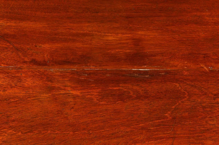 Veneer 19th Century Georgian Small Size Caddy Top Mahogany Four-Drawer Chest For Sale