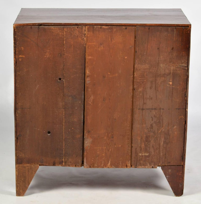 Brass 19th Century Georgian Small Size Caddy Top Mahogany Four-Drawer Chest For Sale