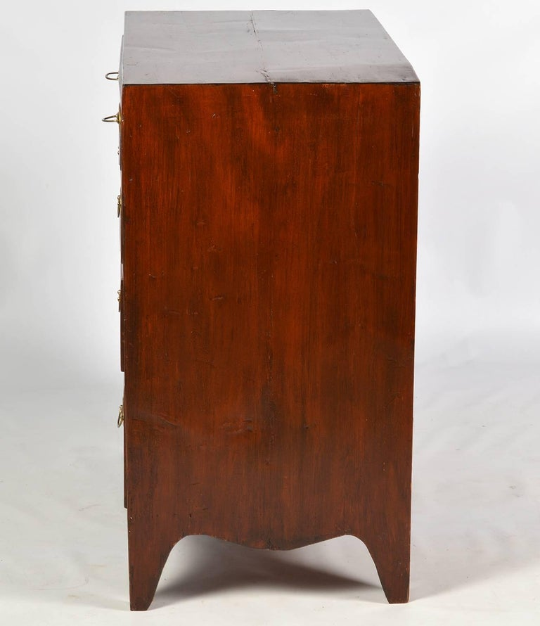 19th Century Georgian Small Size Caddy Top Mahogany Four-Drawer Chest For Sale 1