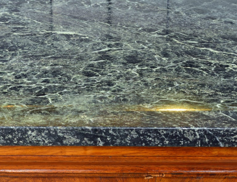 Bronze Early 19th Century French First Period Empire Marble Top Three-Drawer Commode For Sale