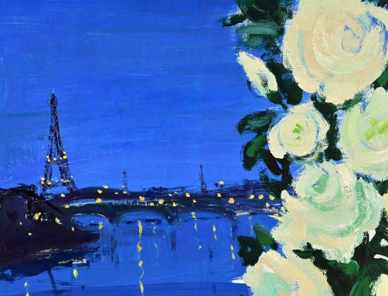 Gilt 'Paris by Night' Poetic Impressionist Gem by Eva Holmberg Jacobsson, Swedish For Sale