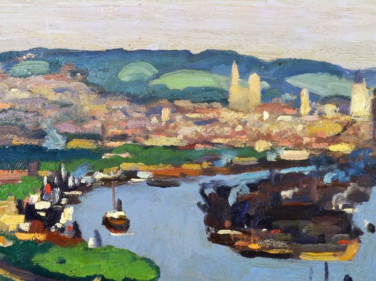 20th Century 'Vue Plongeante sur le Port de Rouen' by Gaston Balande, Spain France, 1880-1971 For Sale