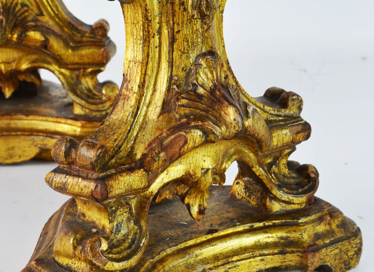 Pair of Mid-19th Century Italian Baroque Style Carved Giltwood Reliquaries For Sale 5