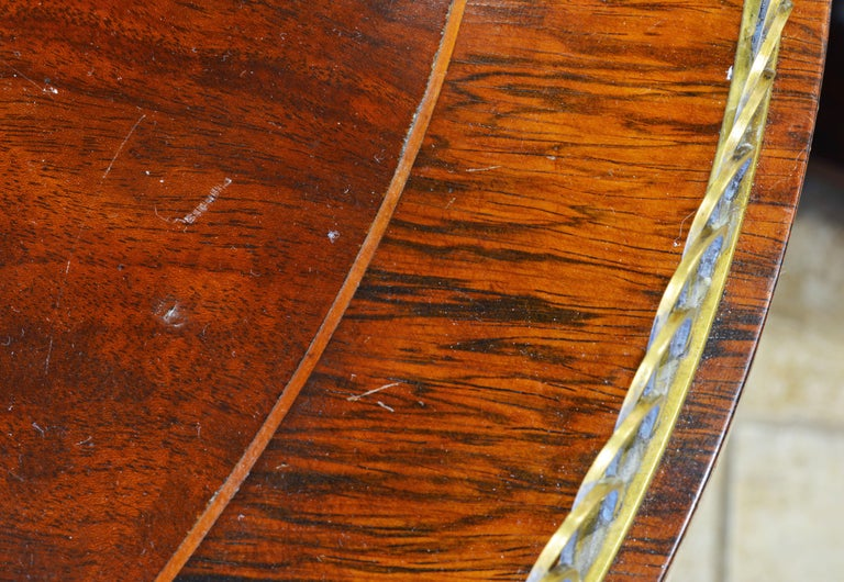 Elegant Pair of French Directoire Style Mahogany and Rosewood Gueridon Tables For Sale 5