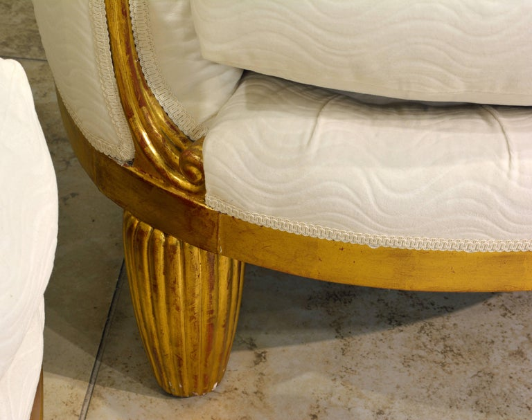 Exceptional Pair of French Art Deco Lounge Chairs Manner of Maurice Dufrene For Sale 9