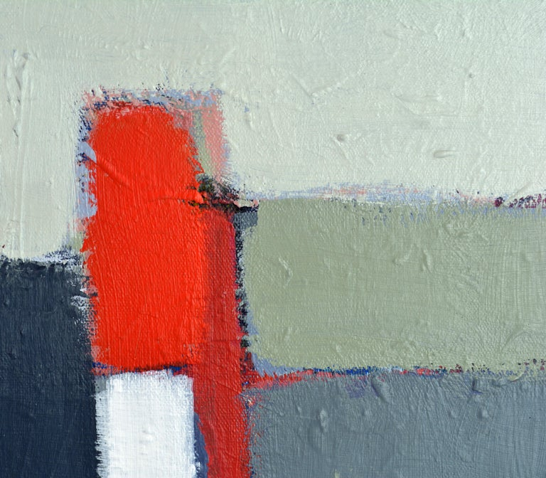 Modern 'The Docks' Contemporary Abstract Original Painting by Lars Hegelund For Sale
