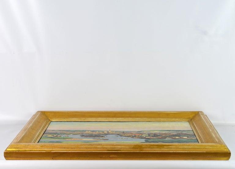 'Vue Plongeante sur le Port de Rouen' by Gaston Balande, Spain France, 1880-1971 For Sale 3
