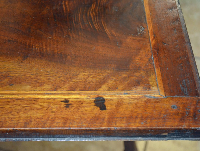 Charming 18th Century Italian Rococo Walnut and Fruitwood Inlaid Fall Front Desk 4
