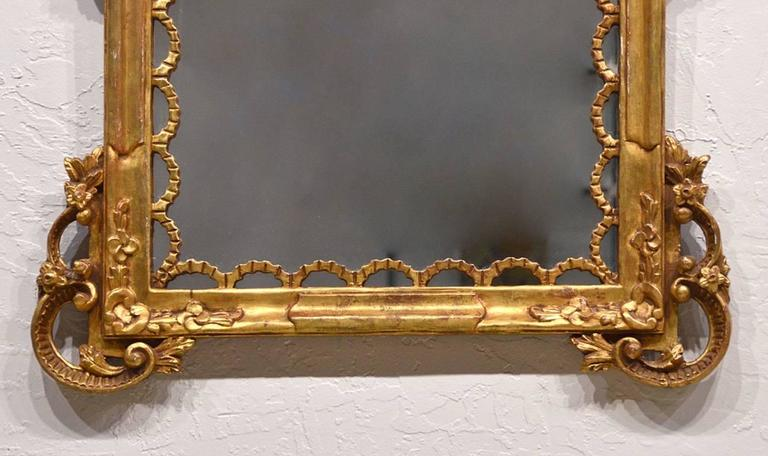 Pair of Carved Gilt Wood Italian Baroque Style Mirrors 4