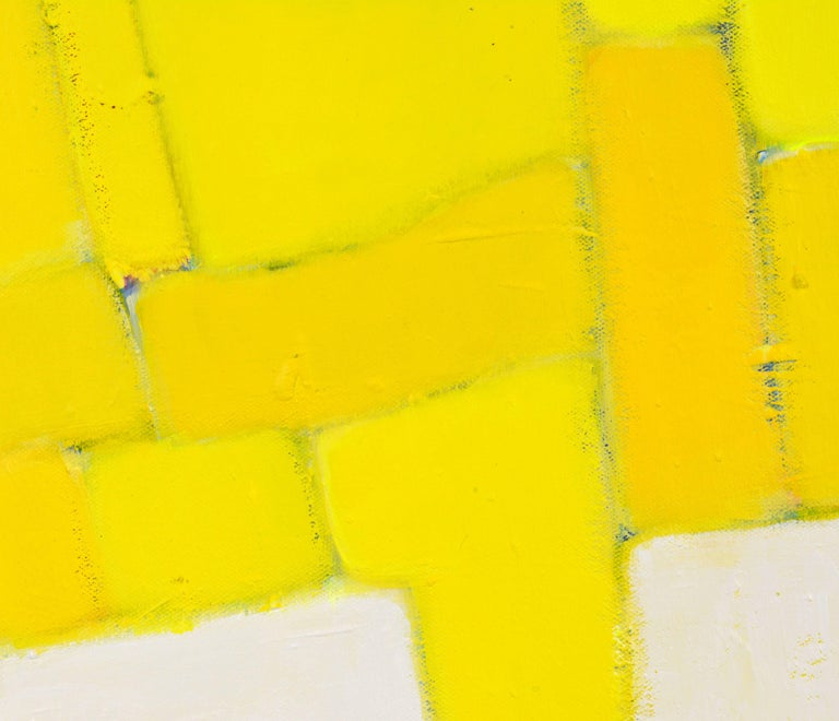 'Yellow Composition' Contemporary Abstract by Lars Hegelund, American 3