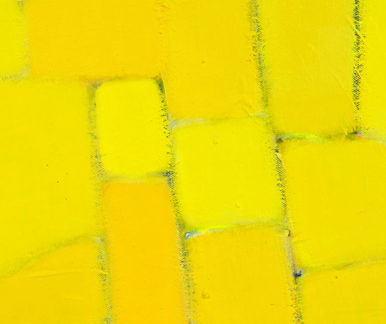'Yellow Composition' Contemporary Abstract by Lars Hegelund, American 4