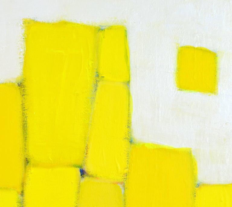 'Yellow Composition' Contemporary Abstract by Lars Hegelund, American 5