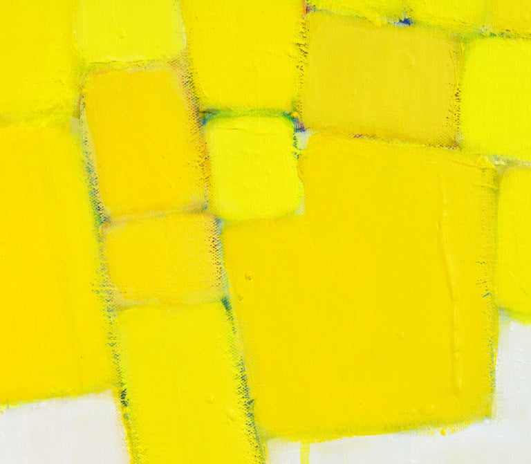 'Yellow Composition' Contemporary Abstract by Lars Hegelund, American 7