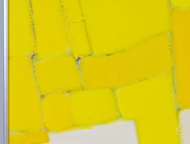 'Yellow Composition' Contemporary Abstract by Lars Hegelund, American 9
