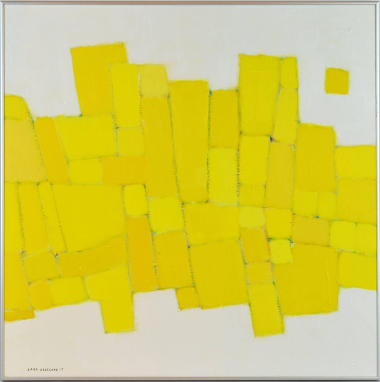 'Yellow Composition' Contemporary Abstract by Lars Hegelund, American 2