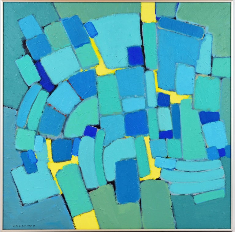 'Arrondissement' Contemporary Mid-Century Style Abstract by Lars Hegelund 2