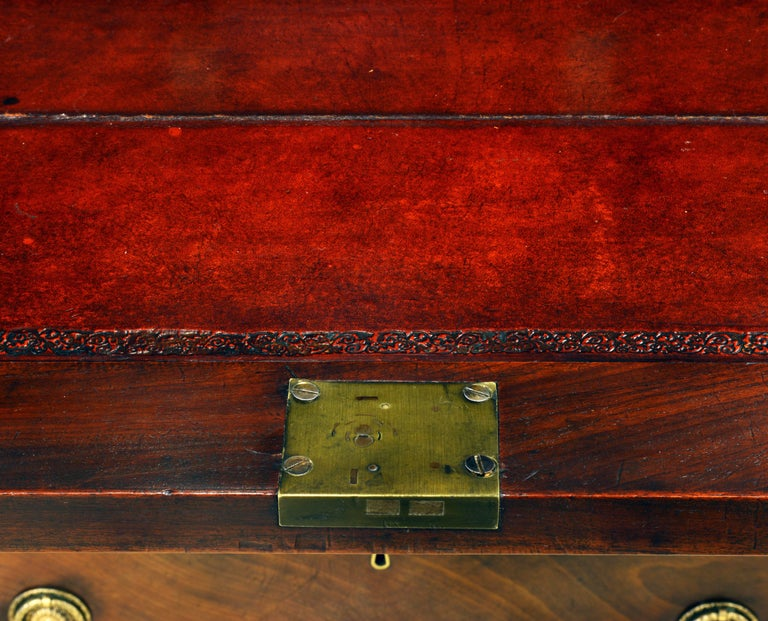 English 19th Cent. Ormolu and Sevres Plaque Mounted Inlaid Burl Walnut Credenza 8