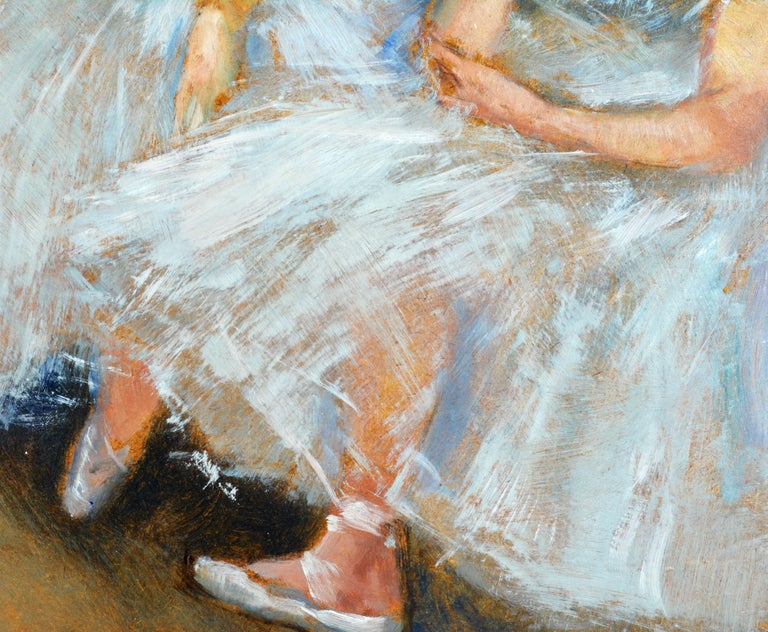 'The Ballerinas' by Fried Pal, Hungarian 1893-1976, Oil on Panel, Stunning In Good Condition For Sale In Ft. Lauderdale, FL