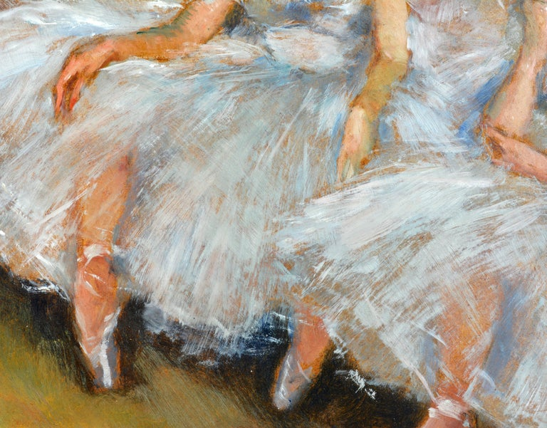 American 'The Ballerinas' by Fried Pal, Hungarian 1893-1976, Oil on Panel, Stunning For Sale