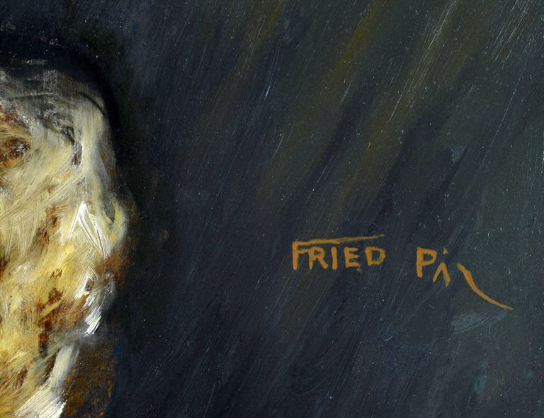 Erotic Nude by Pal Fried, Hungarian 1893-1976, Oil on Panel, Stunning In Good Condition For Sale In Ft. Lauderdale, FL