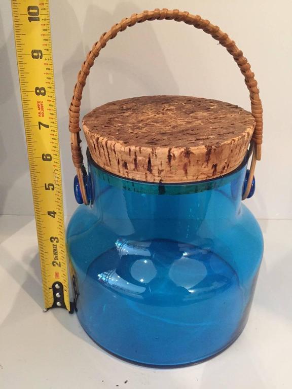 Mid-Century Glass Ice Bucket  2