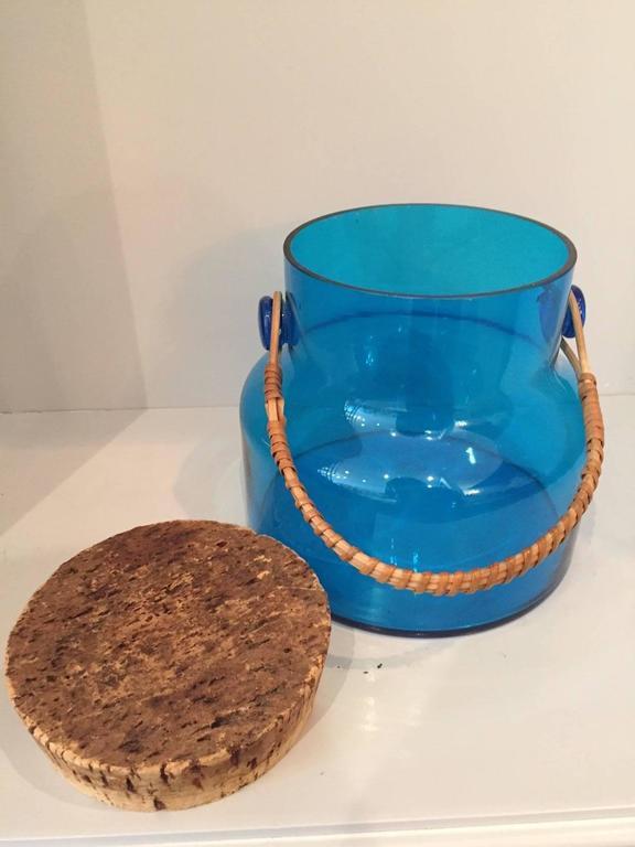 Mid-Century Glass Ice Bucket  3