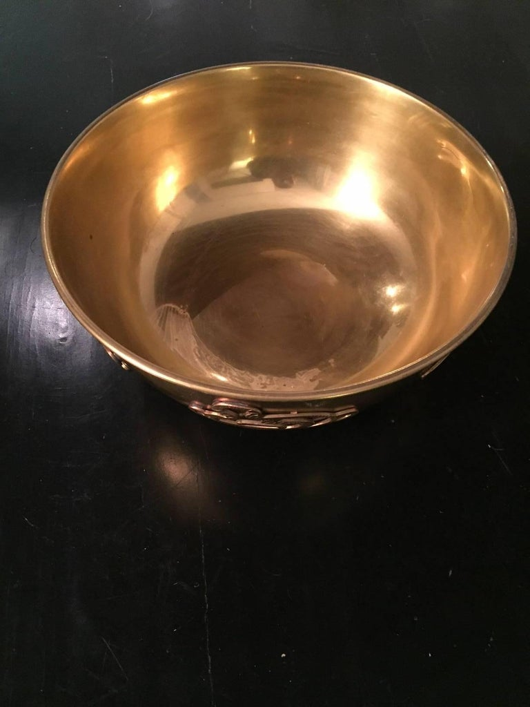 20th Century Asian Brass Bowl 4