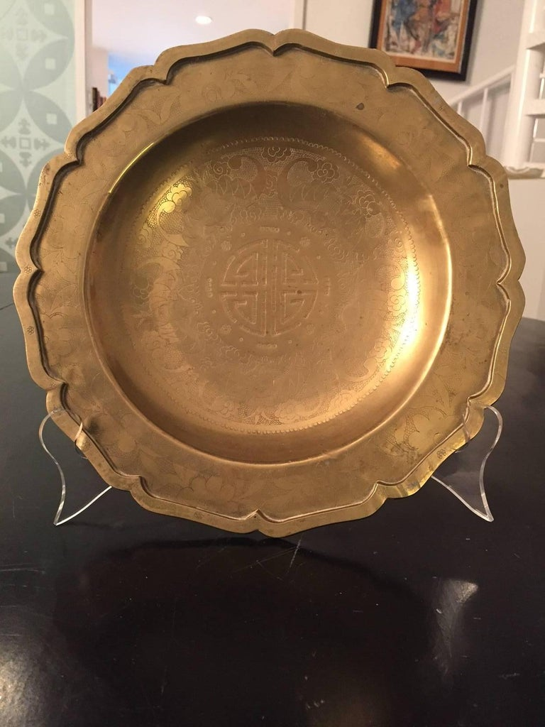 20th Century Asian Brass Plate 5