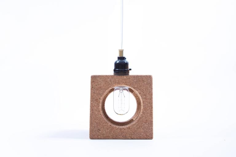 These Hand-Sculpted cork pendants are a fun and versatile approach to lighting.  They can act as a standalone accent light, or be clustered together to function as ambient light.  You can hang them, place them on your desk, or fix them to your wall;