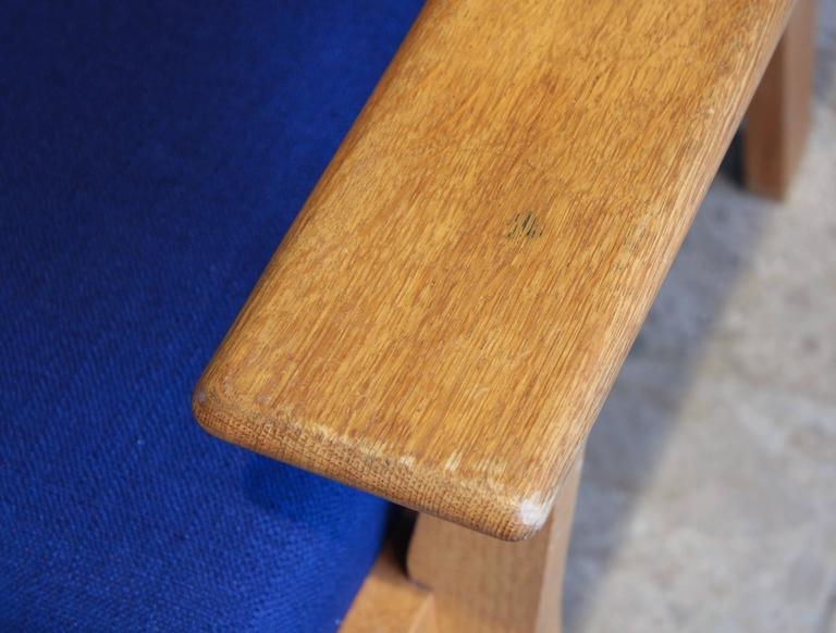 Oak Vintage Ge 181 a Lounge Chairs by Hans Wegner for GETAMA, Set of Two For Sale