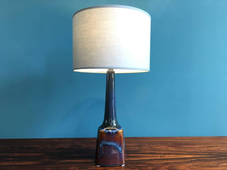 Mid-Century Modern Vintage Danish Ceramic Table Lamp by Soholm, 1960s For Sale
