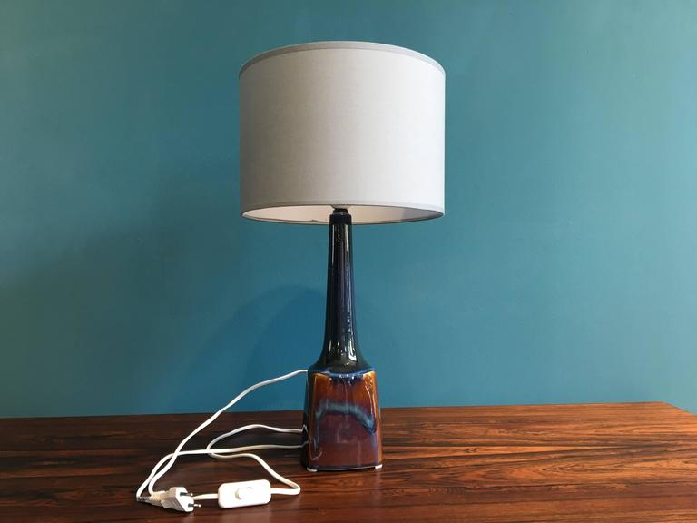 Vintage Danish Ceramic Table Lamp by Soholm, 1960s For Sale 1