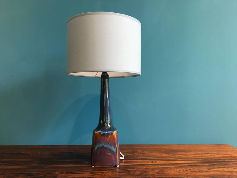 Vintage Danish Ceramic Table Lamp by Soholm, 1960s In Excellent Condition For Sale In Berlin, DE