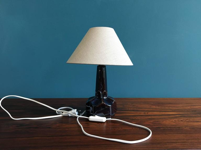 Small Danish Ceramic Table Lamp by Einar Johansen for Soholm Stentoj, 1960s For Sale 2