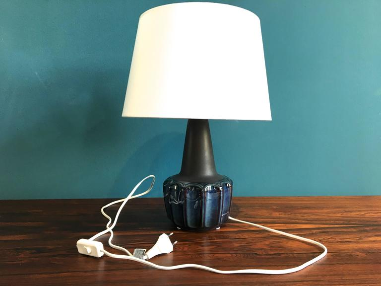 Vintage Danish Ceramic Table Lamp by Einar Johansen for Soholm, 1960s In Excellent Condition For Sale In Berlin, DE