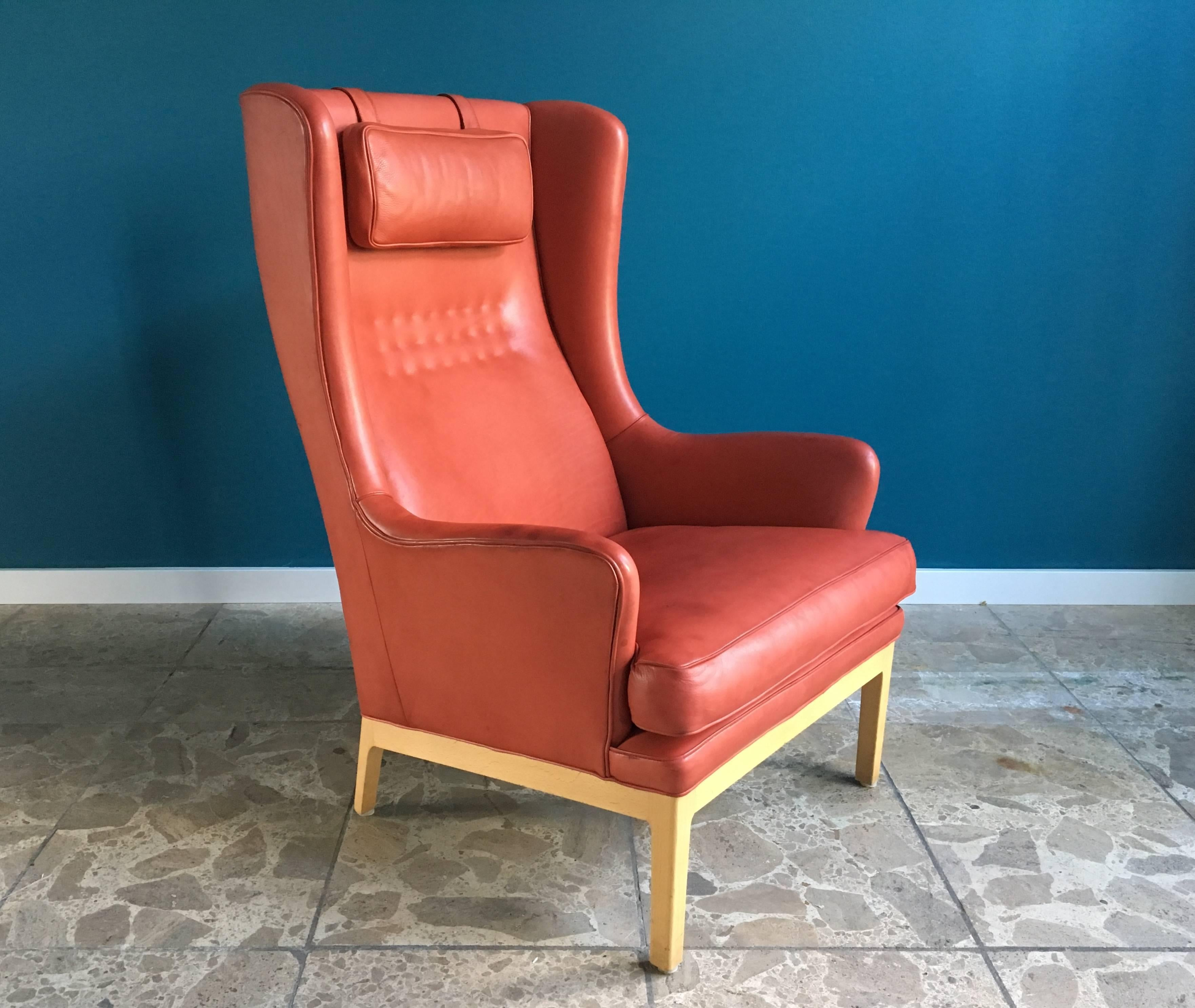 This Wing Chair Was Designed By Arne Norell And Produced By His Company  Norell AB In