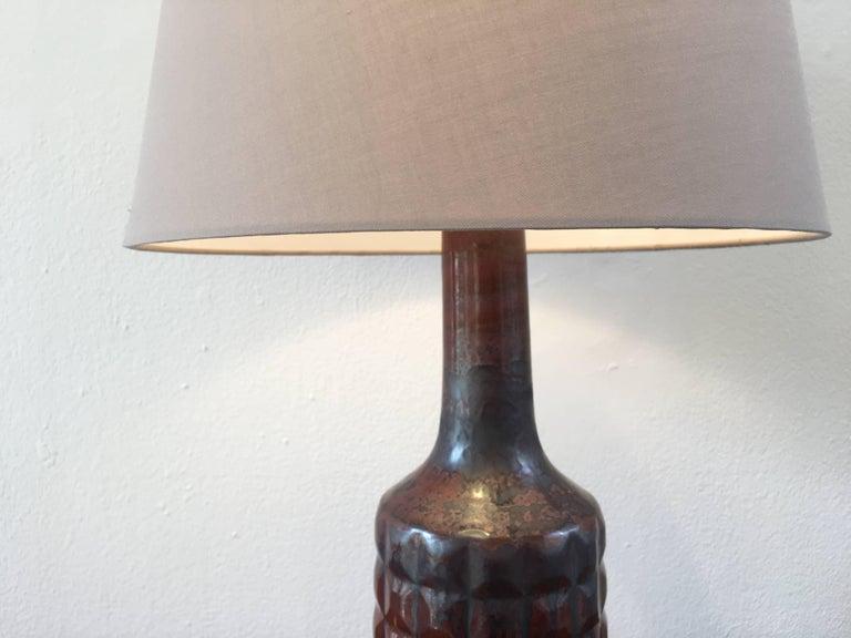 Glazed Vintage Danish Ceramic Table Lamp by Desiree Stentoj For Sale
