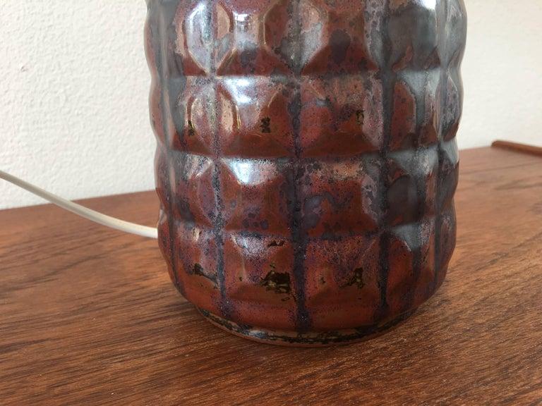 Vintage Danish Ceramic Table Lamp by Desiree Stentoj For Sale 1