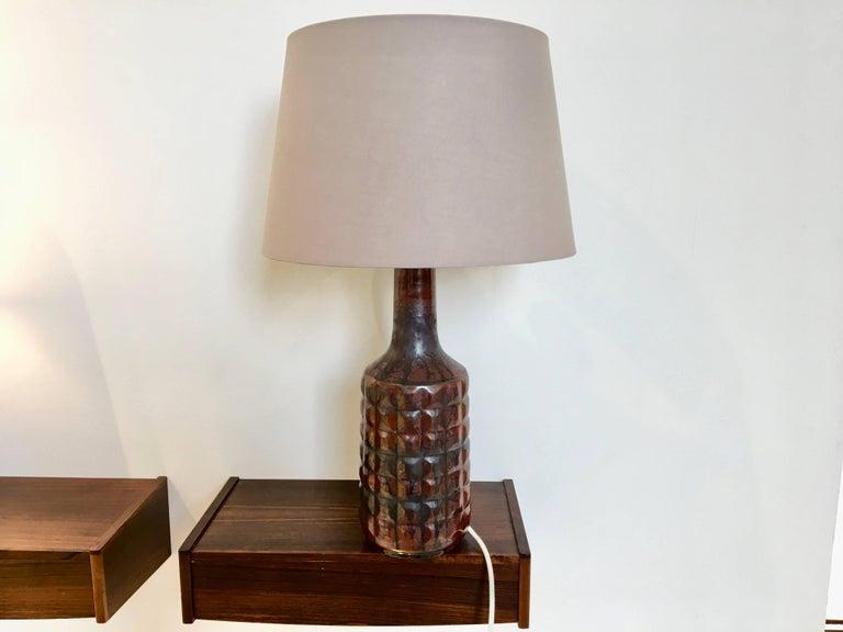 Vintage Danish Ceramic Table Lamp by Desiree Stentoj For Sale 3