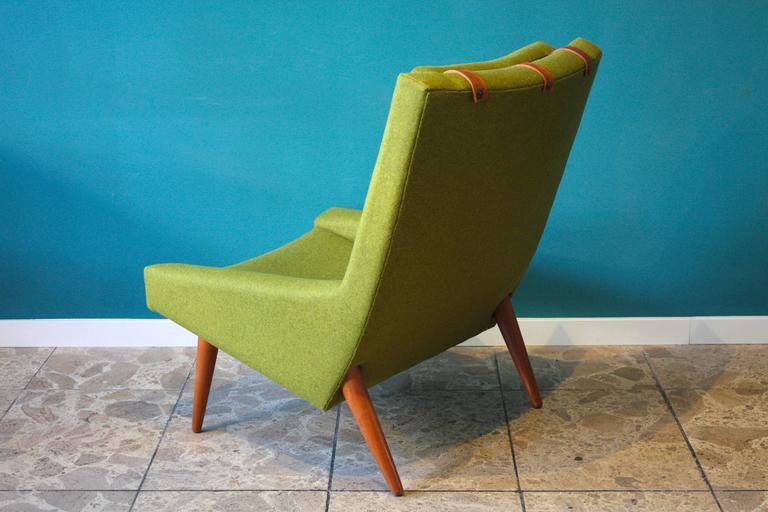 Danish High Back Lounge Chair by Illum Wikkelsø for Soren Willadsen, 1960s For Sale