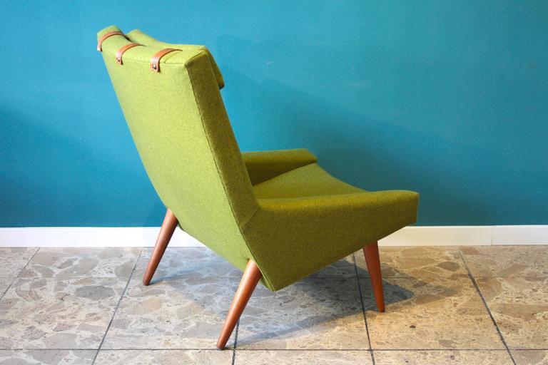 High Back Lounge Chair by Illum Wikkelsø for Soren Willadsen, 1960s In Excellent Condition For Sale In Berlin, DE