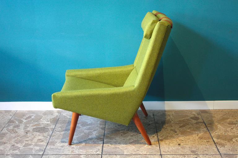 Mid-Century Modern High Back Lounge Chair by Illum Wikkelsø for Soren Willadsen, 1960s For Sale