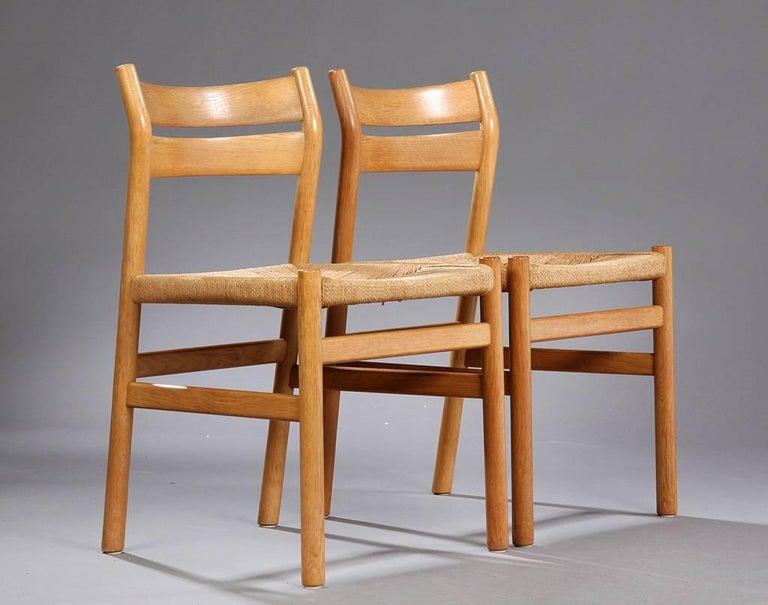 Mid-Century Modern BM1 Dining Chairs by Børge Mogensen CM Madsen, Set of Six For Sale