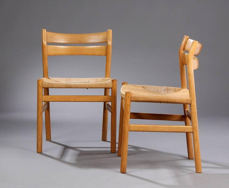 BM1 Dining Chairs by Børge Mogensen CM Madsen, Set of Six In Good Condition For Sale In Berlin, DE