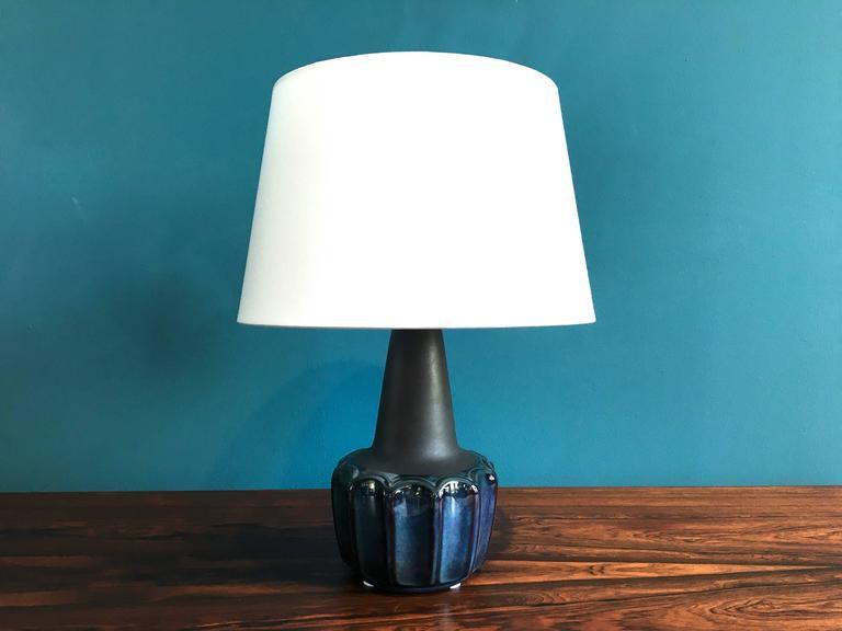 Vintage Danish Ceramic Table Lamp by Einar Johansen for Soholm, 1960s For Sale 2