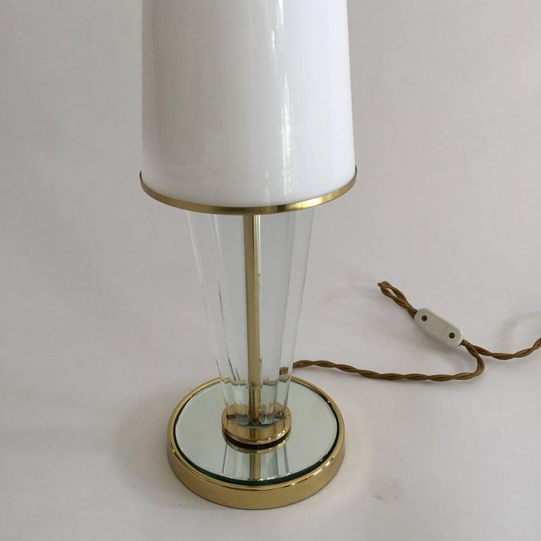 Mid-20th Century Pair of Table Lamps, Brusotti, Italy, 1940s For Sale
