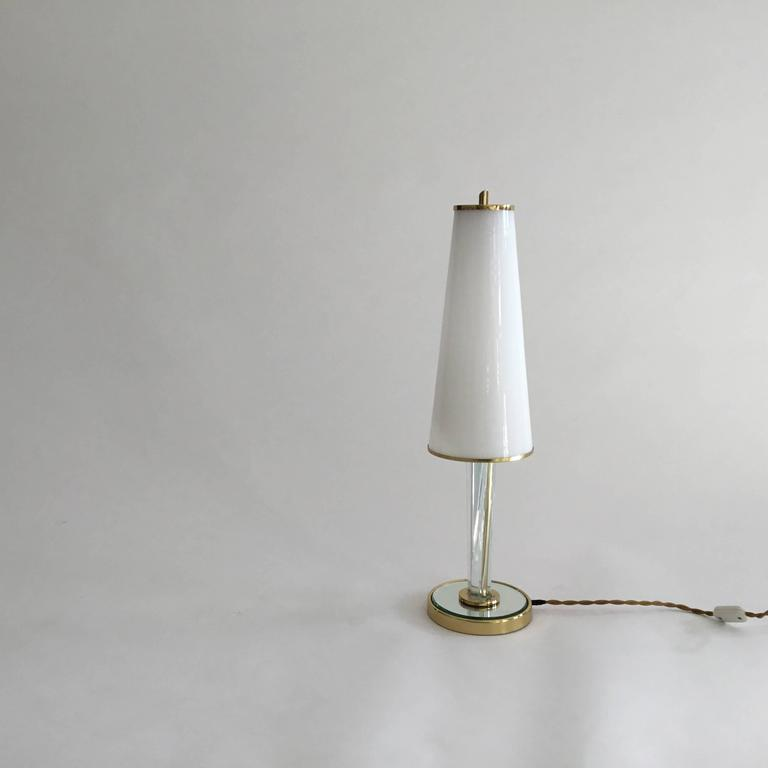 Metal Pair of Table Lamps, Brusotti, Italy, 1940s For Sale