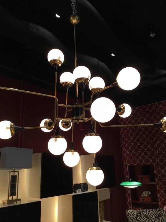 Italian Stilnovo Ceiling Lamp, Italy, 1950s For Sale